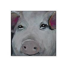 """Piggy No. 1 Square Sticker 3"""" x 3"""""""