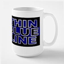 Thin Blue Line Silver Mugs