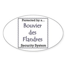 Bouvier Security Oval Decal