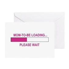 MOM-TO-BE LOADING Greeting Card