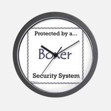 Boxer Security Wall Clock