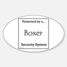 Boxer Security Oval Decal