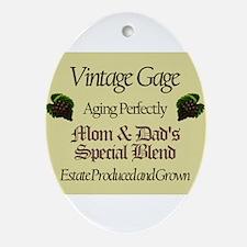 Vintage Gage Oval Ornament
