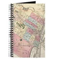 Vintage Map of Albany NY (1874) Journal