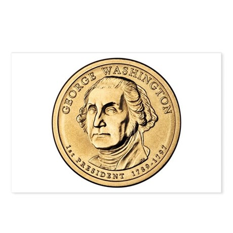 George Washington Dollar Coin Postcards Package O By