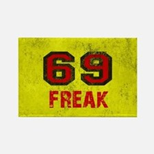 69 FREAK red black yellow vintage Rectangle Magnet