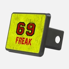 69 FREAK red black yellow  Hitch Cover