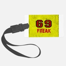 69 FREAK red black yellow vintag Luggage Tag