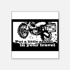 "Funny Adventures Square Sticker 3"" x 3"""
