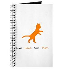 Cat Lovers Live Love Nap Purr Journal