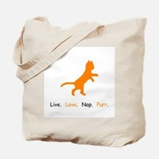 Cat Lovers Live Love Nap Purr Tote Bag