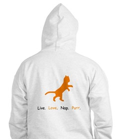 Cat Lovers Live Love Nap Purr Hoodie