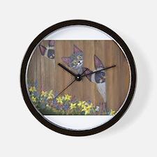 Three Little Kitties Wall Clock