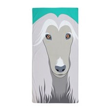 Afghan Hound Beach Towel