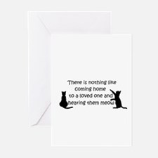 Coming Home to aCat Greeting Cards