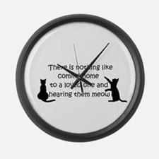 Coming Home to aCat Large Wall Clock