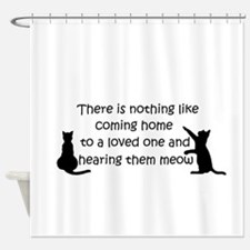 Coming Home to aCat Shower Curtain