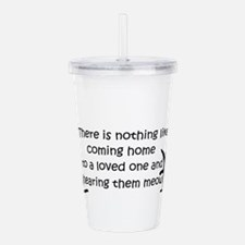 Coming Home to aCat Acrylic Double-wall Tumbler