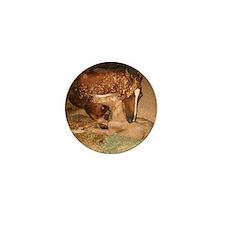 Cute Chestnut horse Mini Button