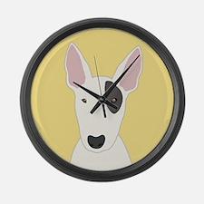 Bull Terrier Large Wall Clock