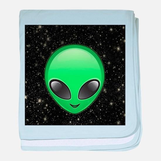 alien emojis baby blanket