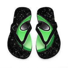 alien emojis Flip Flops