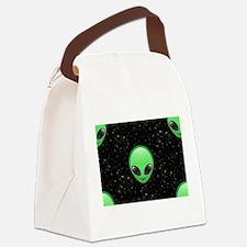 alien emojis Canvas Lunch Bag