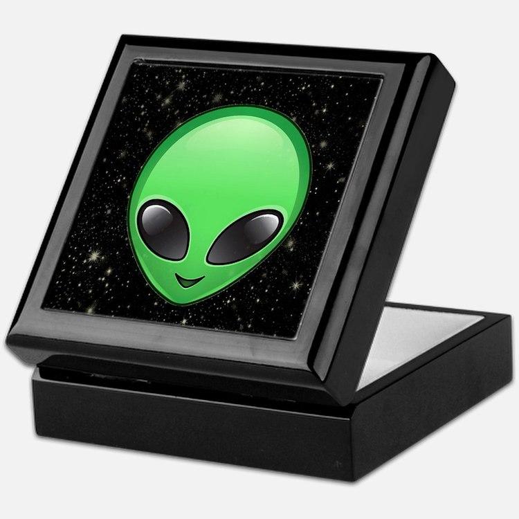 alien emojis Keepsake Box