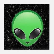 alien emojis Tile Coaster
