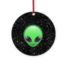 alien emojis Round Ornament