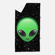 alien emojis Beach Towel