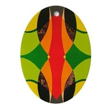 Cute Offset Oval Ornament