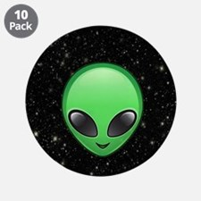 """alien emojis 3.5"""" Button (10 pack)"""