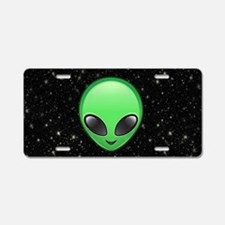 alien emojis Aluminum License Plate