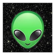 "alien emojis Square Car Magnet 3"" x 3"""