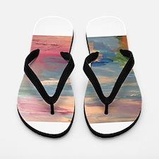 Pink Sky Zone Flip Flops