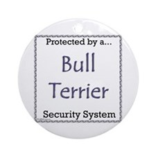 Bull Terrier Security Ornament (Round)