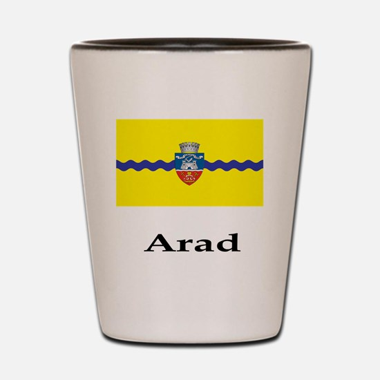 , Romania Flag Shot Glass