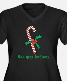 Candy Cane Plus Size T-Shirt