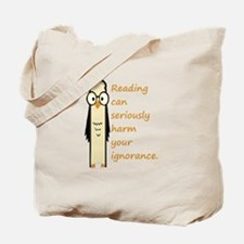 Cute Book Owl Reading Quote Tote Bag
