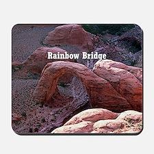 Rainbow Bridge, Utah, from air (caption) Mousepad