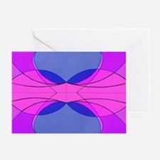 Unique Racing stripes Greeting Card