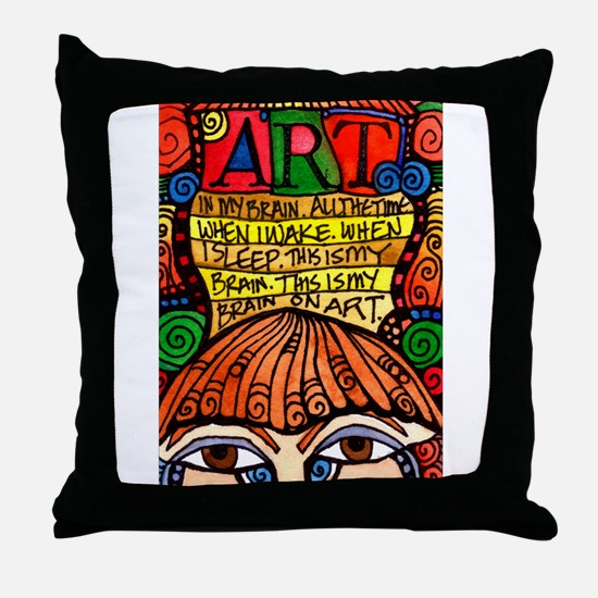 ART BRAIN (This is your brain on Art) Throw Pillow