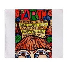 ART BRAIN (This is your brain on Art) Throw Blanke