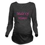 maidofhonor_heart_TR.png Long Sleeve Maternity T-S