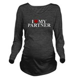 ilovemypartner_white_TR.png Long Sleeve Maternity