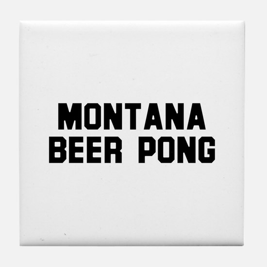 Montana Beer Pong Tile Coaster