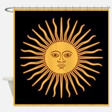 Celestial Golden Sun Shower Curtain