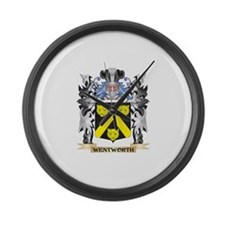 Wentworth Coat of Arms - Family C Large Wall Clock