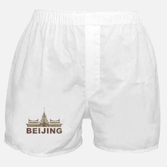 Vintage Beijing Temple Boxer Shorts